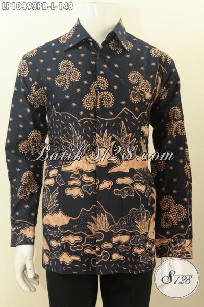 Jual Produk Baju Batik Solo Nan Istimewa, Kemeja Batik Elegan Lengan Panjang Kwalitas Bagus Untuk Acara Resmi Dan Rapat Kerja Tampil Berkelas, Size L