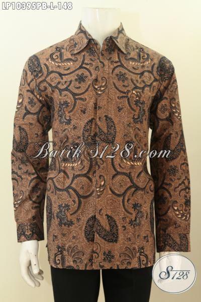Hem Batik  Solo Istimewa Untuk Pria Muda Dan Dewasa, Kemeja Batik Klasik Printing Cabut Kwalitas Bagus Harga Murmer, Size L