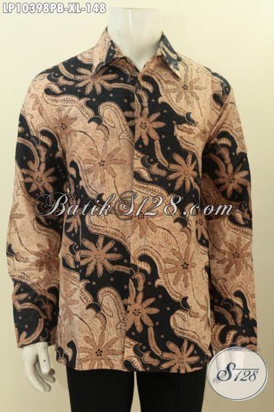 Batik Kemeja Solo Elegan Lengan Panjang, Hadir Dengan Desain Motif Klasik Terkini Lebih Berkelas Harga 148K, Size XL