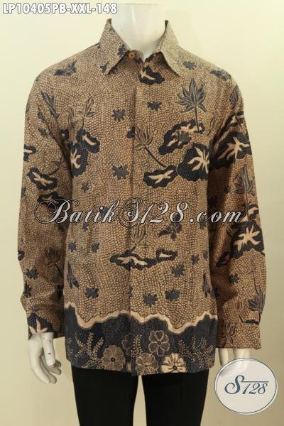 Model Pakaian Batik Solo Jawa Tengah Kwalitas Bagus Lengan Panjang Bahan Adem Motif Klasik, Penampilan Lebih Mempesona Dan Menawan, Size XXL