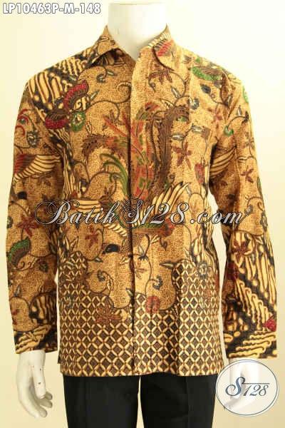 Model Baju Batik Lengan Panjang Istimewa, Kemeja Batik Solo Nan Istimewa Dengan Motif Klasik, Spesial Untuk Acara Resmi Tampil Berwibawa, Size M