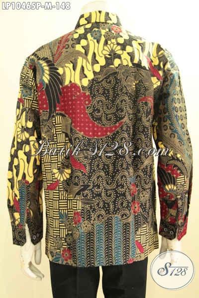 Model Baju Batik Lengan Panjang Pria Terbaru, Hem Halus Motif Klasik Printing Solo Desain Mewah, Tampil Makin Gagah [LP10465P-M]