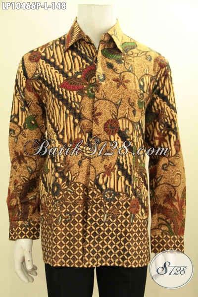 Toko Busana Batik Online Terlengkap, Kemeja Batik Klasik Proses Printing Untuk Penampilan Lebih Mempesona, Size L