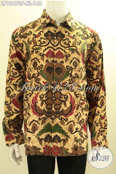 Baju Batik Atasan Pria Model Terbaru Motif Klasik Lengan Panjang Nan Berkelas Proses Printing Hanya 148K, Size L