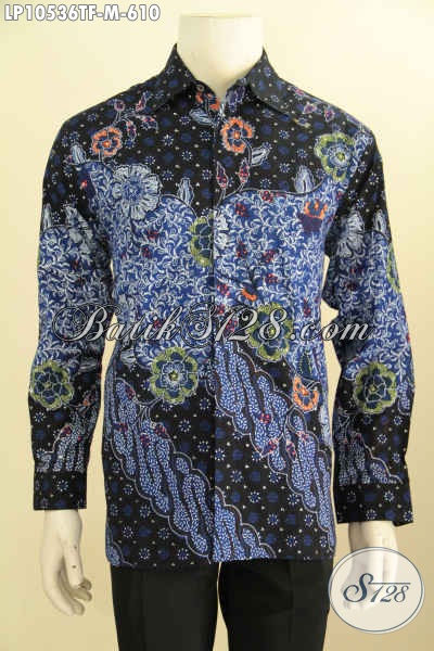Baju Batik Premium Kesukaan Pria Pejabat Dan Eksekutif, Hem Batik Mewah Full Furing Motif Klasik Tulis Asli Bikin Penampilan Gagah Berwibawa, Size M