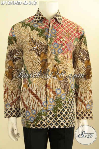 Produk Pakaian Batik Mewah Khas Jawa Tengah Rilis Terbaru, Hem Batik Lengan Panjang Full Furing Motif Klasik Tulis Asli, Pas Banget Buat Pejabat Dan Eksekutif, Size M