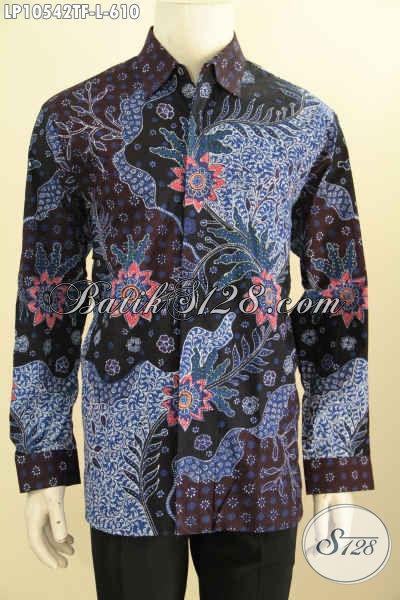 Model Baju Batik Atasan Lengan Panjang Pria, Hadir Dengan Desain Mewah Khas Pejabat Full Furing Motif Bagus Tulis Asli Harga 610K, Size L
