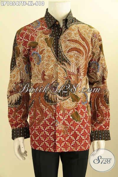 Model Baju Batik Premium Seragam Kerja Pria Sukses Dan Eksekutif, Pakaian Batik Solo Premium Tulis Asli Dan Full Furing Harga 610 Ribu, Size XL