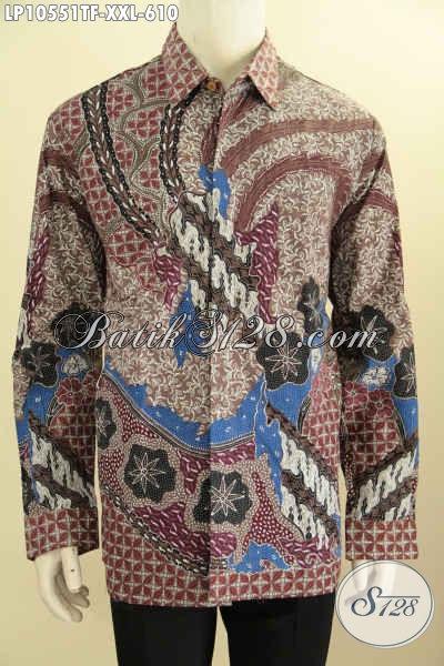 Model Baju Kemeja Lengan Panjang Mewah Full Furing, Pakaian Batik Lelaki Gemuk Yang Ingin Tampil Mewah Berkelas, Size XXL