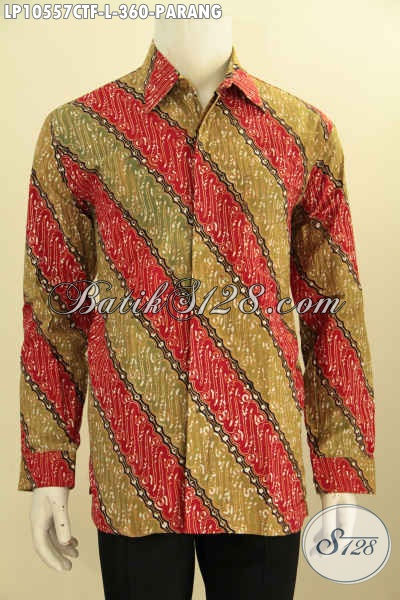 Sedia Baju Batik Lengan Panjang Seragam Kerja Keren Proses Cap Tulis Full Furing Motif Parang Klasik, Tampil Elegan Berkelas [LP10557CTF-L]