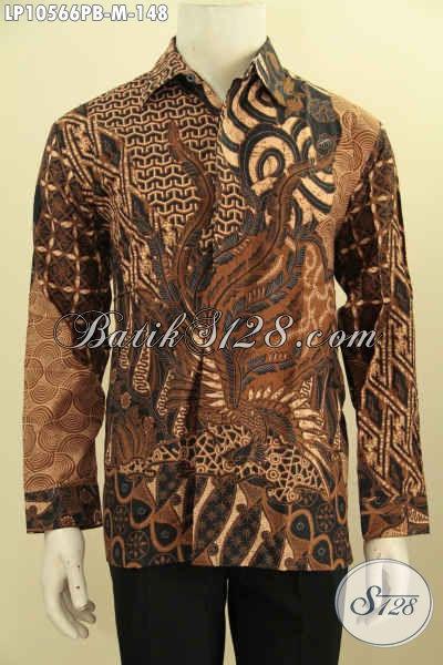 Koleksi Terbaru Kemeja Batik Mewah Bahan Adem Motif Klasik Proses Printing Hanya 148K, Size M