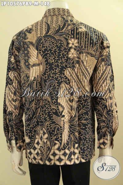 Jual Busana Batik Elegan Ukuran M, Pakaian Batik Kwalitas Bagus Bahan Adem Proses Printing Cabut Asli Dari Solo Tren Mode 2018