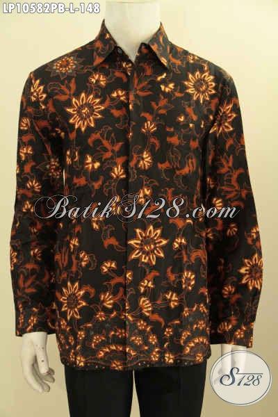 Aneka Baju Batik Solo Kwalitas Istimewa, Busana Batik Halus Untuk Acara Resmi Bahan Adem Proses Printing, Tampil Gagah Berwibawa, Size L