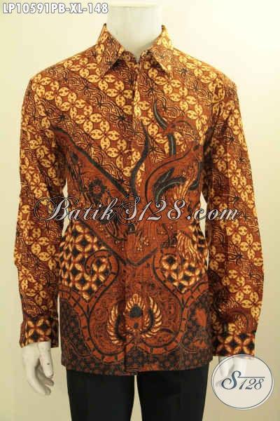 Pusat Baju Batik Solo Lengan Panjang, Kemeja Batik Istimewa Untuk Rapat Dan Kerja Kantoran, Penampilan Gagah Dengan Hanya 148K, Size XL
