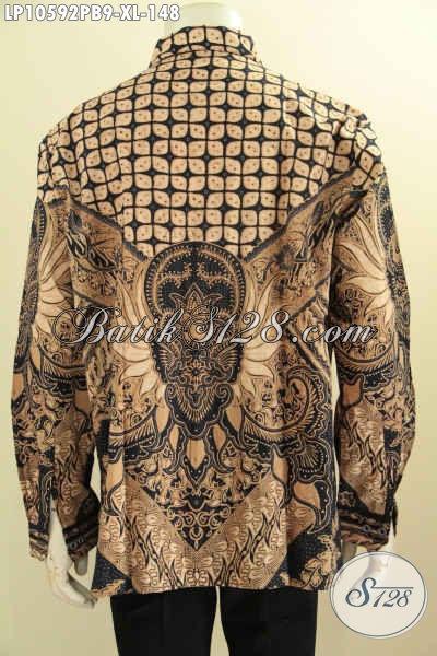 Jual Baju Batik Solo Terkini, Hem Batik Solo Halus Bahan Adem Proses Printing Cabut, Pilihan Tepat Untuk Tampil Berkelas, Size XL