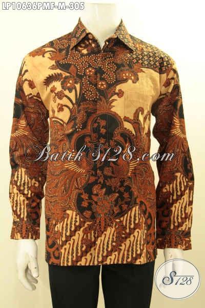 Hem Batik Pria Terbaru, Kemeja Batik Solo Jawa Tengah, Pakaian Batik Solo Terbaik Untuk Pria Tampil Gagah Mempesona, Size M