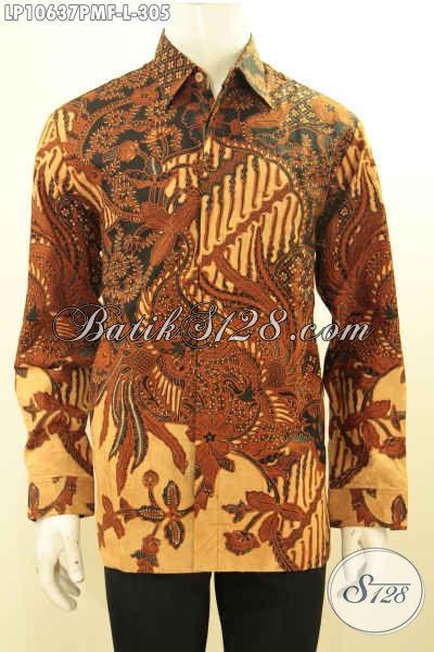 Jual Online Pakaian Batik Solo Kekinian, Hem Batik Jawa Tengah Halus Full Furing Bahan Adem Motif Klasik, Bikin Penampilan Mempesona, Size L