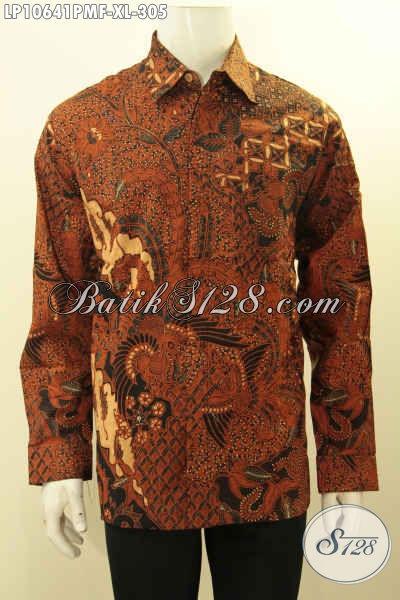 Model Baju Batik Solo Lengan Panjang Istimewa, Hadir Dengan Motif Klasik Berpadu Warna Elegan Daleman Lapisan Furing Hanya 305 Ribu, Size L