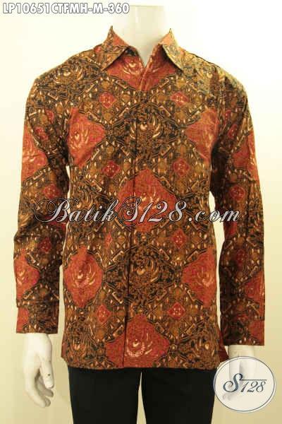 Model Baju Batik Seragam Kerja Lengan Panjang, Busana Batik Elegan Full Furing Berpadu Motif Mewah Cap Tulis Hanya 360K, Size M
