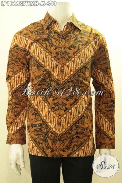 Agen Baju Batik Online, Jual Kemeja Batik Motif Klasik, Pakaian Batik Solo Proses Kombinasi Tulis Di Lengkapi Furing, Penampilan Makin Berwibawa, Size M