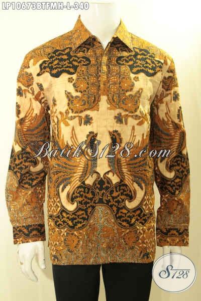 Baju Batik Kombinasi Tulis Model Lengan Panjang Motif Klasik Elegan Buat Rapat Dan Acara Resmi, Pakaian Batik Mewah Full Furing Cocok Juga Untuk Kondangan Hanya 340K [LP10673BTFMH-L]