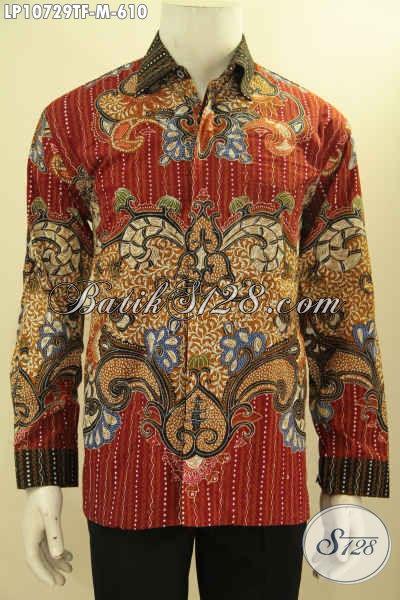 Hem Batik Mewah Premium, Kemeja Batik Solo Halus Lengan Panjang Full Furing Motif Bagus Terbaru Tren 2018 Proses Tulis, Di Jual Online Harga 610K, Size M