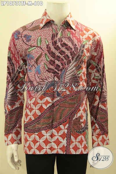 Model Baju Batik Pria Terkini, Hem Batik Mewah Halus Full Furing Motif Klasik Tulis Tangan Asli, Pakaian Batik Premium Pria Terlihat Tampan Mempesona, Size M