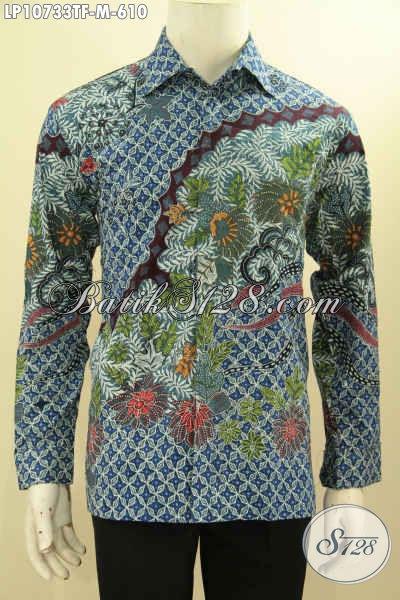 Pakaian Batik Mewah Lengan Panjang Full Furing Size M, Hem Batik Solo Terbaru Nan Berkelas Motif Klasik Proses Tulis, Pas Untuk Rapat Dan Acara Formal Lainnya