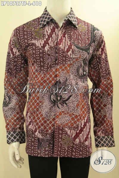 Jual Online Batik Hem Solo Terbaru, Pakaian Batik Mewah Full Furing Motif ELegan Harga 600 Ribuan Proses Tulis Asli, Cocok Banget Buat Rapat Dan Kondangan, Size L