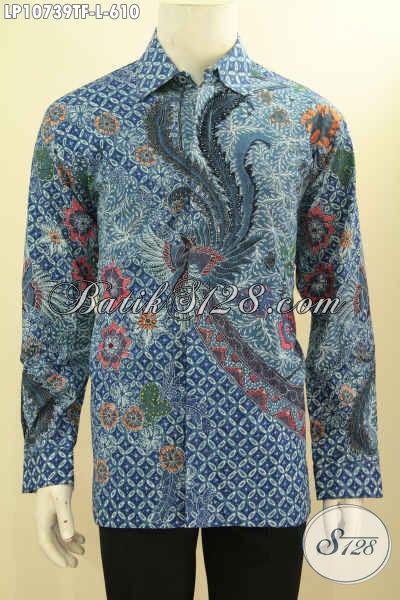 Hem Batik Kerja Pria Terkini, Pakaian Batik Premium Khas Jawa Tengah Pas Untuk Pejabat Dan Eksekutif Model Lengan Panjang Full Furing Harga 610 Ribu, Size L