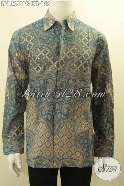 Kemeja Batik Lengan Panjang Elegan Kwalitas Bagus Harga Terjangkau, Baju Batik Berkelas Proses Printing Hanya 158K, Size L – XL