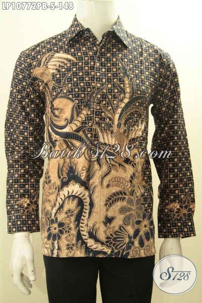 Hem Batik Elegan Proses Printing Cabut, Busana Batik Solo ELegan Mewah Harga Murah, Model Lengan Panjang Cocok Untuk Rapat Ataupun Kondangan, Size S