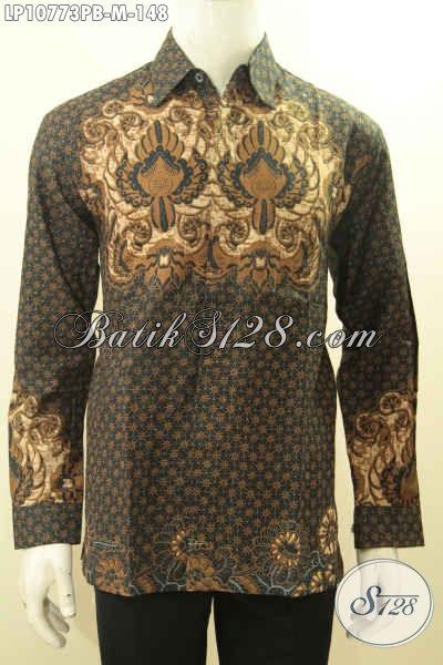Hem Batik Motif Klasik, Kemeja Batik Solo Halus Elegan Berkelas Proses Printing Cabut Bahan Adem Kwalitas Istimewa Hanya 148K, Size M