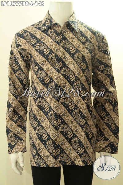 Batik Hem Halus Lengan Panjang Motif Unik Nan Elegan, Pakaian Batik Pria Muda Dan Dewasa Yang Bikin Penampilan Mempesona, Size L