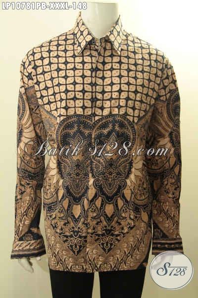 Sedia Kemeja Batik Klasik Lengan Panjang Proses Printing Cabut Bahan Adem Kwalitas Istimewa Asli Buatan Solo Hanya 148 Ribu, Ukuran XXXL