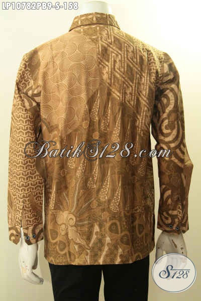 Model Baju Batik Pria Lengan Panjang Ukuran S, Hem Batik Halus Motif ELegan Dan Mewah Proses Printing Cabut, Pas Untuk Acara Formal