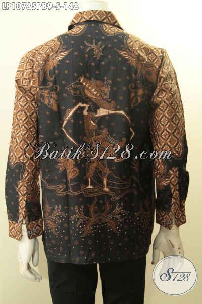 Model Baju Batik Pria 2018 Lengan Panjang, Hem Batik Istimewa Proses Printing Bahan Adem Kwalitas Istimewa Motif Mewah Printing Cabut, Penampilan Tampan Dan Modis, Size S