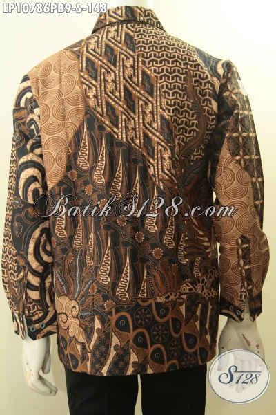 Pusat Baju Batik Pria Online, Sedia Kemeja Batik Halus Lengan Panjang Istimewa Bahan Adem Proses Printing Cabut Motif Bagus Menambah Penampilan Lebih Berkelas, Size S