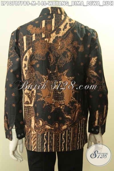 Produk Busana Batik Printing Kwalitas Istimewa, Baju Batik Lelaki Terkini Motif Wayang Bima Dan Dewa Ruci Ukuran M Harga 148K, Size M