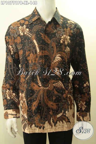 Model Baju Batik Pria Dewasa, Pakaian Batik ELegan Halus Motif Klasik Desain Masa Kini Yang Membuat Lelaki Terlihat Tampan Mempesona, Size XL