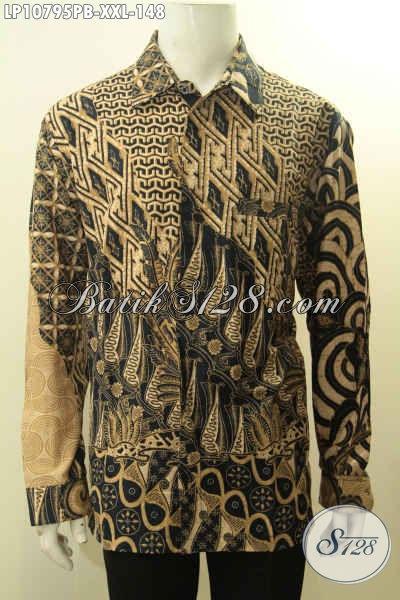 Hem Batik Pria Lengan Panjang XXL, Kemeja Batik Motif Klasik Printing Cabut Khas Solo Jawa Tengah Cocok Untuk Acara Resmi Harga 148K