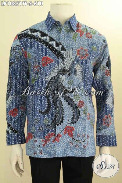 Pakaian Batik Pria Mewah Lengan Panjang, Hem Batik Tulis Premium Full Furing Motif Klasik, Elegan Buat Rapat Dan Acara Formal, Size S