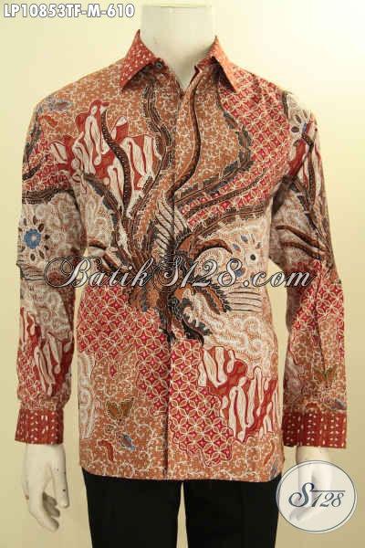 Agen Baju Batik Premium Online Terlengkap, Sedia Hem Lengan Panjang Pejabat Full Furing Motif Klasik Tulis Tangan Asli Hanya 610K, Size M