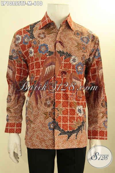 Batik Kemeja Kerja Nan Mewah, Hem Batik Solo Halus Full Furing Lengan Panjang Mewah Motif Klasik Tulis Asli, Penampilan Lebih Gagah Mempesona Harga 610K, Size M