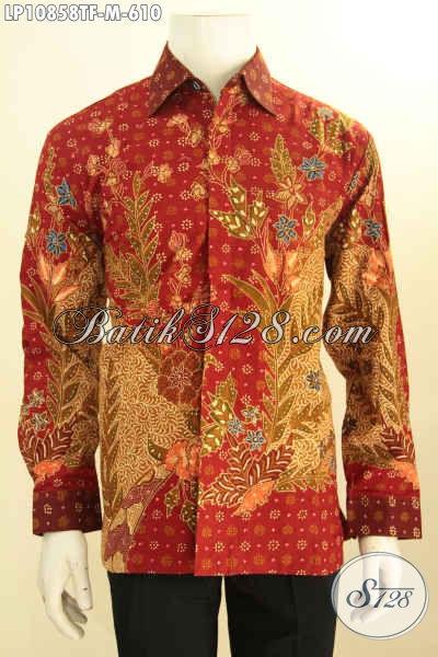 Toko Online Busana Batik Premium Paling Up To Date, Sedia Hem Lengan Panjang Mewah Daleman Full Furing Motif Bagus Tulis Asli Hanya 610K, Size M