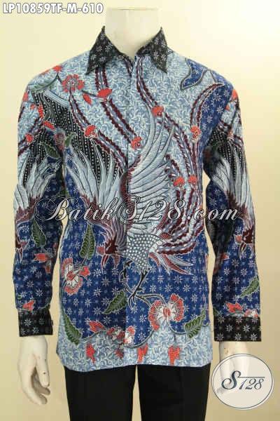 Batik Kemeja Premium Size M, Hem Batik Mewah Halus Full Furing Lengan Panjang Motif Berkelas Proses Tulis Asli, Cocok Untuk Kondangan Dan Rapat Tampil Berwibawa