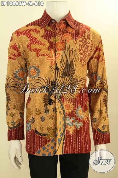 Hem Batik Tulis Elegan Mewah Lengan Pajang Khas Pejabat, Kemeja Batik Premium Tulis Full Furing Yang Membuat Penampilan Lebih Gagah Dan Sempurna, Size M