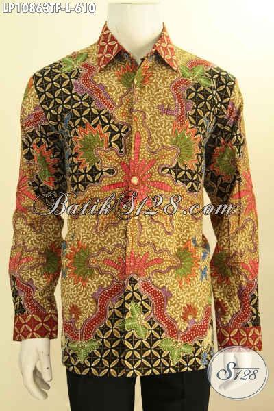 Model Baju Batik Formal Pria Terkini, Hadir Dengan Motif Mewah Lengan Panjang Full Furing Proses Tulis Asli, Penampilan Makin Berwibawa, Size L