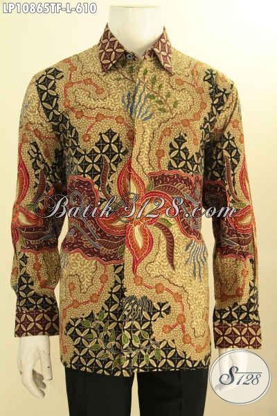 Produk Baju Batik Kerja Pria Pejabat, Hem Batik Premium Para Eksekutif Desain Lengan Panjang Motif Bagus Proses Tulis Daleman Full Furing Harga 610K, Size L