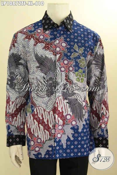 Koleksi Busana Batik Pria Premium, Hem Batik Solo Jawa Tengah Elegan Ukuran XL Daleman Full Furing Yang Membuat Pria Terlihat Gagah Mewah Dan Berkelas